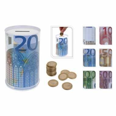 5 eurobiljet spaarpot 13 cm