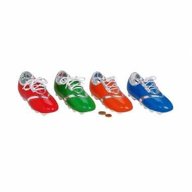 Blauwe voetbalschoen spaarpot