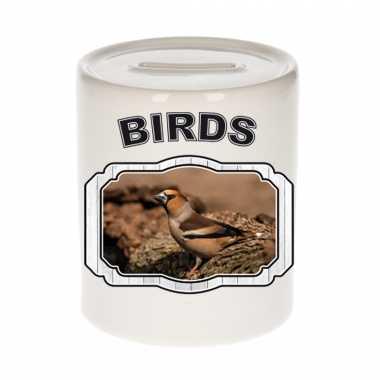 Dieren appelvink vogel spaarpot - birds/ vogels spaarpotten kinderen 9 cm