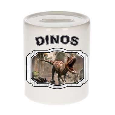 Dieren carnotaurus dinosaurus spaarpot - dinosaurs/ dinosaurussen spaarpotten kinderen 9 cm