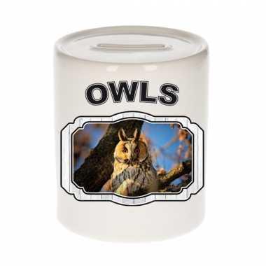 Dieren ransuil spaarpot owls uilen spaarpotten kinderen 9 cm