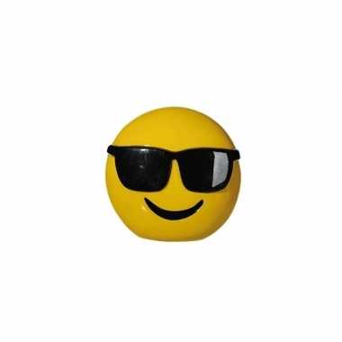 Emoticon cool spaarpot 13 cm
