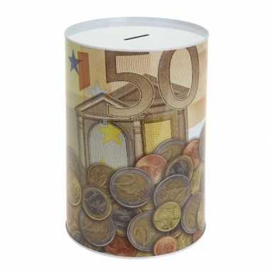 Eurobiljet spaarpot 50 euro briefje