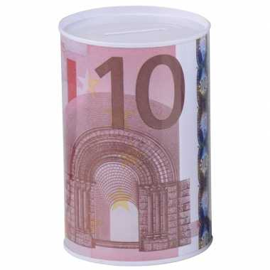 Geld spaarpot 10 euro biljet 8 x 11 cm