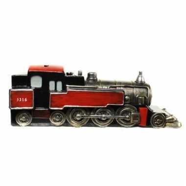 Geld spaarpot rode trein