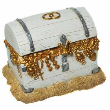 Geld spaarpot schatkist bruiloft