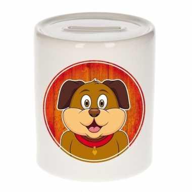 Honden spaarpot voor kinderen 9 cm