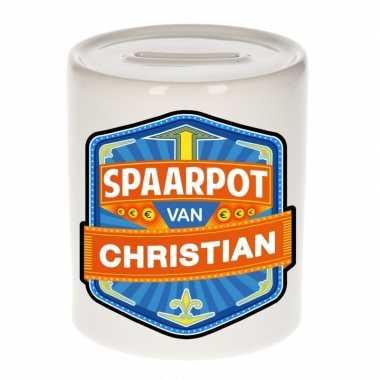 Kinder spaarpot voor christian