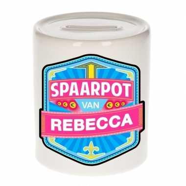 Kinder spaarpot voor rebecca