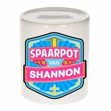 Kinder spaarpot voor shannon