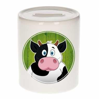 Koeien spaarpot voor kinderen 9 cm