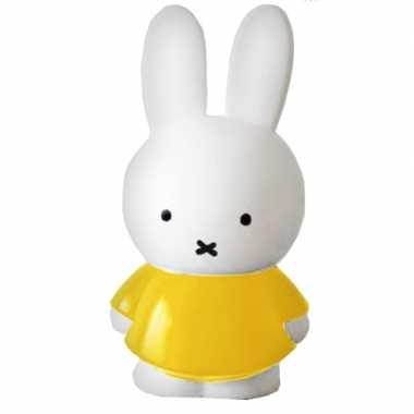 Kunststof nijntje konijn spaarpot 17 cm