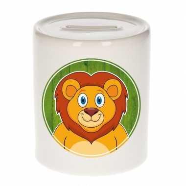 Leeuwen spaarpot voor kinderen 9 cm