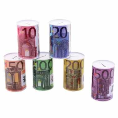 Metalen spaarpot 20 euro biljet 8 x 15 cm
