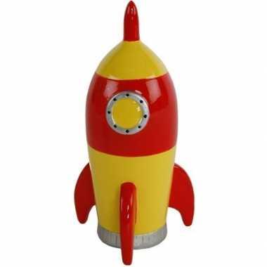 Ruimteschip spaarpot geel