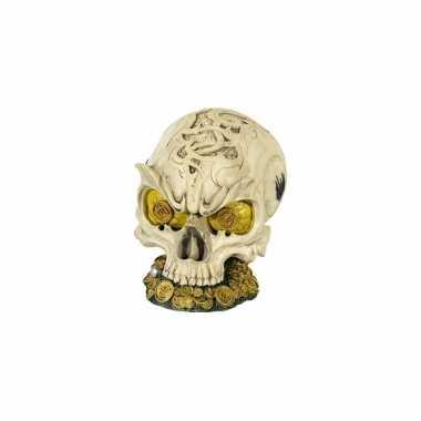 Schatkist schedel spaarpot 14 cm