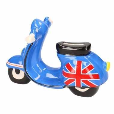 Scooter spaarpot blauw