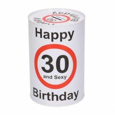 Spaarblik 30e verjaardag 15 cm