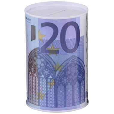 Spaarpot 20 euro biljet 8 x 11 cm
