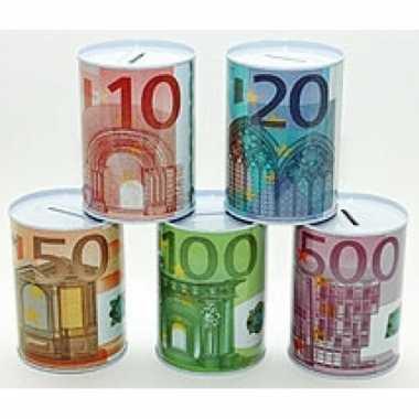 Spaarpot 500 euro biljet 8 x 11 cm