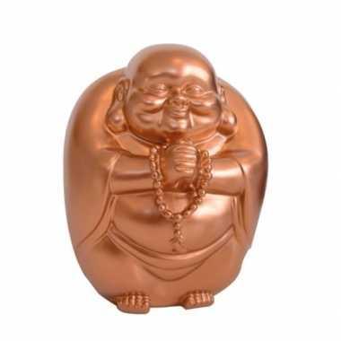 Spaarpot boeddha in koper kleur