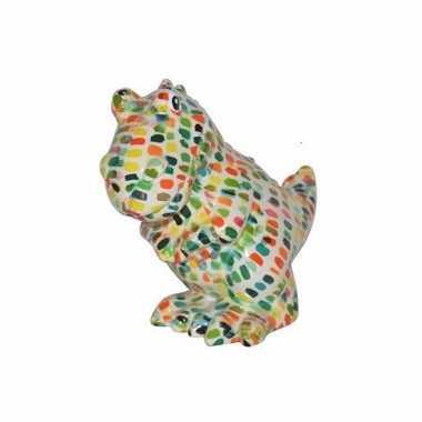Spaarpot dinosaurus 17 cm wit