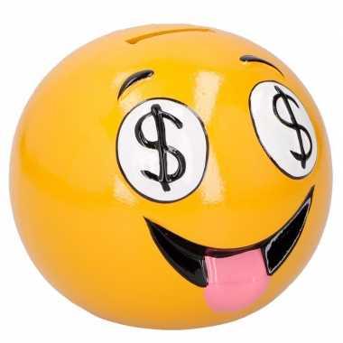 Spaarpot emoticons dollars 12 cm