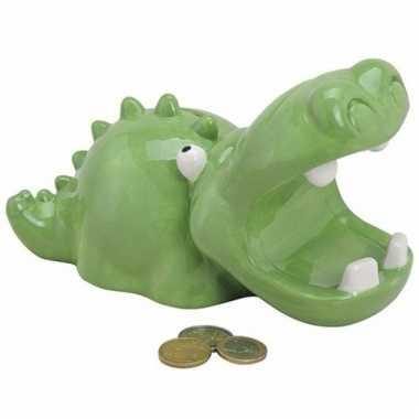 Spaarpot groene krokodil