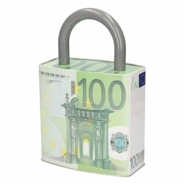 Spaarpot hangslot 100 euro biljet type 1