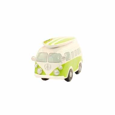 Spaarpot lime groene volkswagen bus