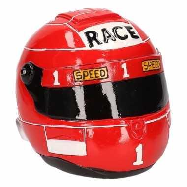 Spaarpot rode race helm