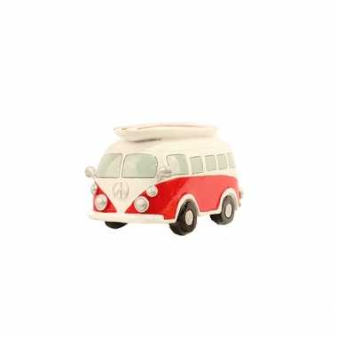 Spaarpot rode volkswagen bus