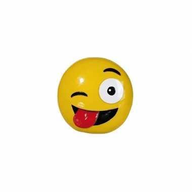 Spaarpotten emoticons tong 13 cm
