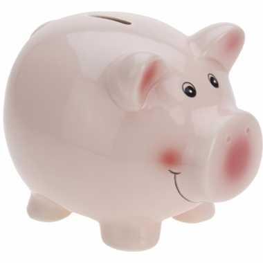Spaarvarken roze 13 cm