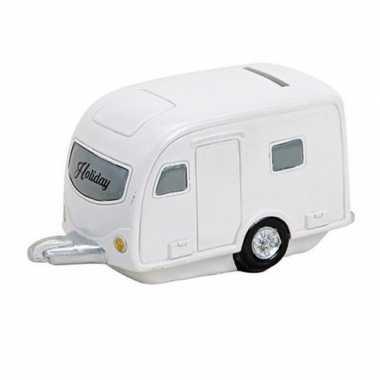 Vakantie spaarpot caravan 15 cm