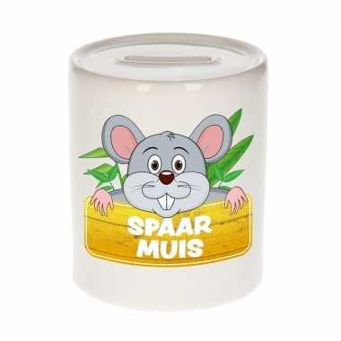 Vrolijke muis spaarpotten 9 cm