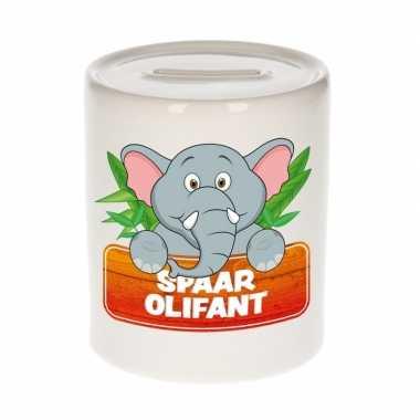 Vrolijke olifanten spaarpotten 9 cm