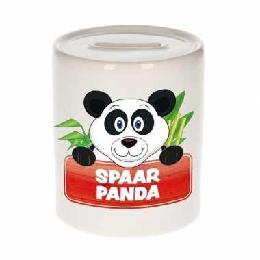 Vrolijke panda spaarpotten 9 cm