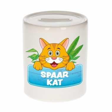 Vrolijke rode katten / poezen spaarpotten 9 cm