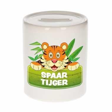 Vrolijke tijgers spaarpotten 9 cm