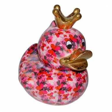 Xl spaarpot eend met kroontje type 3 28 cm