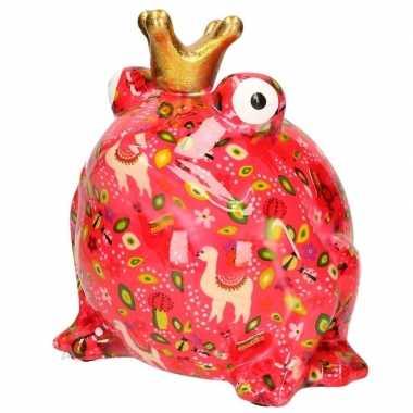 Xl spaarpot roze kikker type 9 28 cm