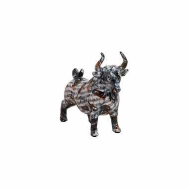 Zwarte stier spaarpot van keramiek