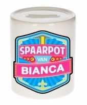 Kinder spaarpot voor bianca