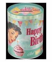 Ronde verjaardag spaarpot 13 cm
